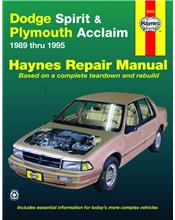 Dodge Spirit (Petrol) 1989 - 1995 Haynes Owners Service & Repair Manual