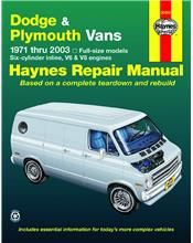Dodge/Plymouth Full-Size vans 1971 - 1903 Haynes Owners Service & Repair Manual