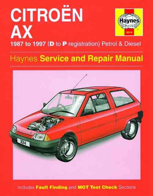Citroen AX Petrol & Diesel 1987 - 1997 Haynes Owners Service & Repair Manual - Front Cover