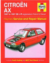 Citroen AX Petrol & Diesel 1987 - 1997 Haynes Owners Service & Repair Manual