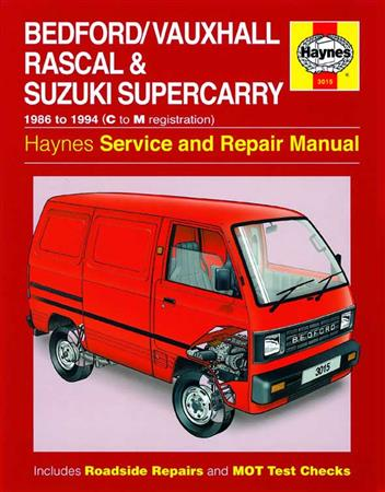 Bedford Vauxhall Rascal & Suzuki Supercarry 1986 - 1994 - Front Cover
