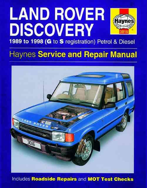 Land Rover Discovery Petrol & Diesel 1989 - 1998 - Front Cover