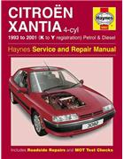 Citroen Xantia Petrol & Diesel 1993 - 2001 Haynes Owners Service & Repair Manual - Front Cover