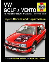 Volkswagen VW Golf & Vento (Petrol & Diesel) 1992 - 1998