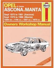 Opel Ascona & Manta 1975 - 1988 Haynes Owners Service & Repair Manual