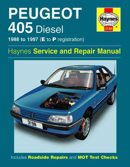 Peugeot 405 Diesel 1988 - 1997 Haynes Owners Service & Repair Manual - Front Cover