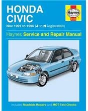 Honda Civic 1991 - 1996 Haynes Owners Service & Repair Manual