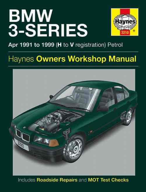 BMW 3-Series Petrol 1991 - 1999 Haynes Owners Service & Repair Manual - Front Cover