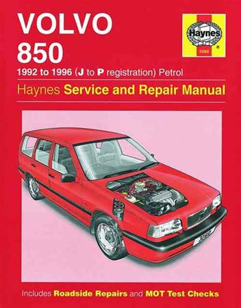 Volvo 850 1992 - 1996 Haynes Owners Service & Repair Manual - Front Cover