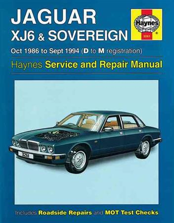Jaguar XJ6 & Sovereign 1986 - 1994 Haynes Owners Service & Repair Manual - Front Cover