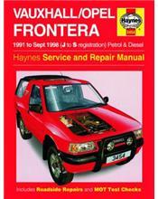 Holden (Vauxhall/Opel) Frontera Petrol & Diesel 1991- 1998
