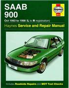 Saab 900 1993 - 1998 Haynes Owners Service & Repair Manual - Front Cover