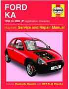 Ford Ka 1996 - 2002 Haynes Owners Service & Repair Manual