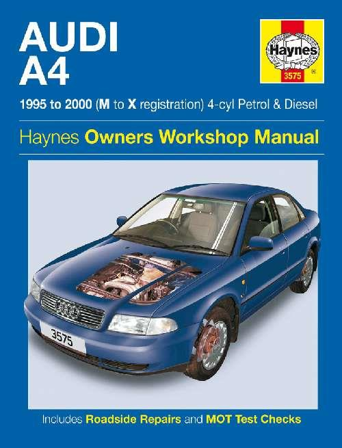 Audi A4 Petrol & Diesel 1995 - 2000 Haynes Owners Service & Repair Manual - Front Cover