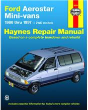 Ford Aerostar Mini-vans 1986 - 1997 Haynes Owners Service & Repair Manual