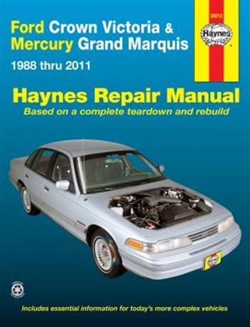 Ford Crown Victoria & Mercury Grand Marquis 1988 - 2010 - Front Cover