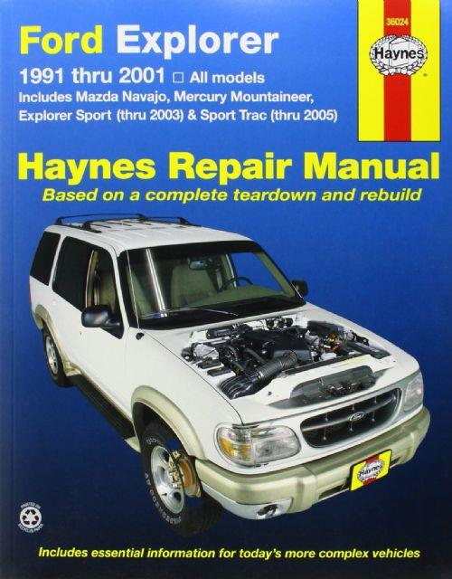 Ford Explorer, Mazda Navajo & Mercury Mountaineer 1991 - 2005 - Front Cover