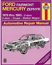 Ford Fairmont/Mercury Zephyr 1978 - 1983 Haynes Owners Service & Repair Manual