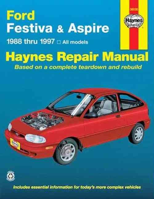 Ford Festiva & Aspire 1988 - 1997 Haynes Owners Service & Repair Manual - Front Cover