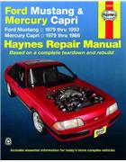 Ford Mustang & Mercury Capri 1979 - 1993 Haynes Owners Service & Repair Manual