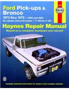 Ford Pick-Ups & Bronco (Petrol) 1973-1979 Haynes Owners Service & Repair Manual - Front Cover