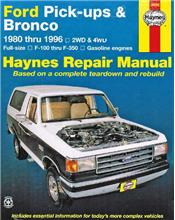 Ford Pick-ups & Bronco (Petrol) 1980- 1996 Haynes Owners Service & Repair Manual