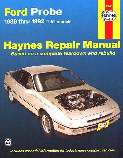 Ford Probe 1989 - 1992 Haynes Owners Service & Repair Manual