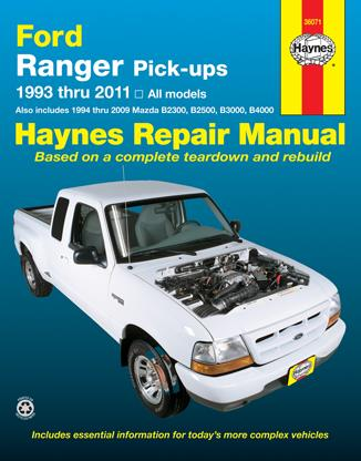 Ford Ranger Pick-ups 1993 - 2011 Haynes Owners Service & Repair Manual - Front Cover