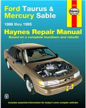 Ford Taurus & Mercury Sable 1986 - 1995 Haynes Owners Service & Repair Manual