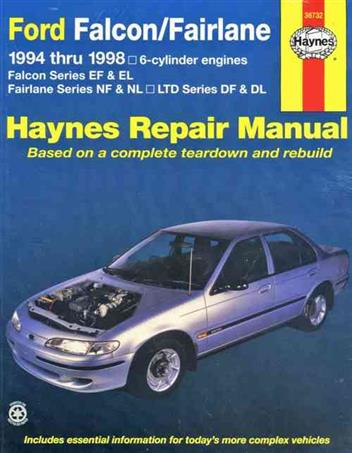 Ford Falcon & Fairlane 1994 - 1998 Haynes Owners Service & Repair Manual - Front Cover