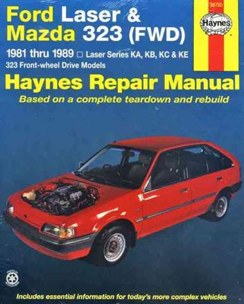 Ford Laser & Mazda 323 (FWD) 1981 - 1989 Haynes Owners Service & Repair Manual - Front Cover
