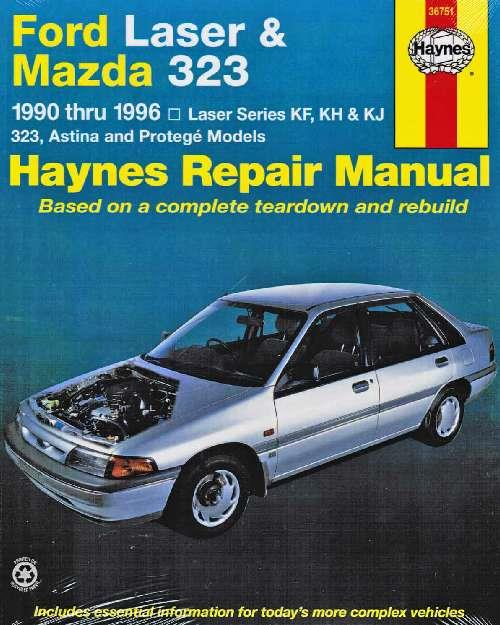 Ford Laser & Mazda 323 1990 - 1996 Haynes Owners Service & Repair Manual - Front Cover