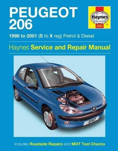 Peugeot 206 Petrol & Diesel 1998 - 2001 Haynes Owners Service & Repair Manual - Front Cover