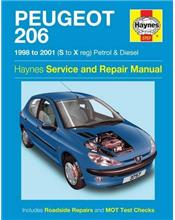 Peugeot 206 (Petrol & Diesel) 1998 - 2001 Haynes Owners Service & Repair Manual