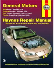 Buick Regal FWD 1988 - 2007 Haynes Owners Service & Repair Manual