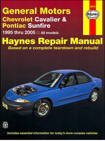 General Motors Chevrolet Cavalier & Pontiac Sunfire 1995 - 2005 - Front Cover