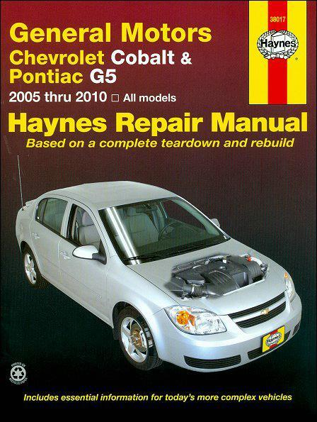 General Motors Chevrolet Cobalt, Pontiac G5 & Pontiac Pursuit 2005 - 2010