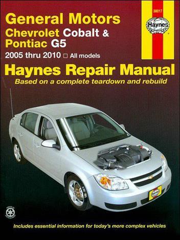 2008 chevrolet cobalt service manual