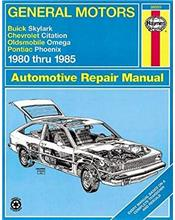 Buick Skylark 1980 - 1985 Haynes Owners Service & Repair Manual
