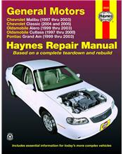 Chevrolet Malibu 1997 - 2003 Haynes Owners Service & Repair Manual