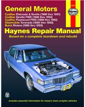 Cadillac Eldorado 1986 - 1991 Haynes Owners Service & Repair Manual