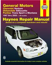 Chevrolet Venture 1997 - 2005 Haynes Owners Service & Repair Manual