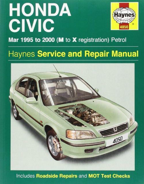 Honda Civic Petrol 1995 - 2000 Haynes Owners Service & Repair Manual - Front Cover