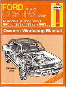Ford Cortina Mk.IV 1976 - 1983 Haynes Owners Service & Repair Manual - Front Cover
