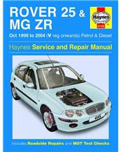 Rover 25 & MG ZR 1999 - 2004 Haynes Owners Service & Repair Manual