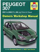 Peugeot 307 Petrol & Diesel 2001 - 2008 Haynes Owners Service & Repair Manual