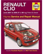 Renault Clio Petrol & Diesel June 2001 - 2005 Haynes Service & Repair Manual