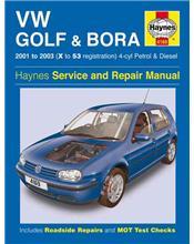 Volkswagen VW Golf & Bora Petrol & Diesel 2001 - 2003