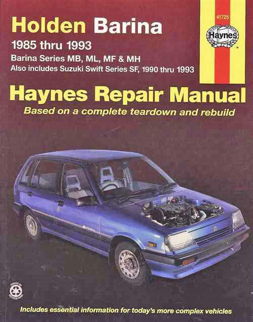 Holden Barina 1985 - 1993 / Suzuki Swift 1990 - 1993 - Front Cover