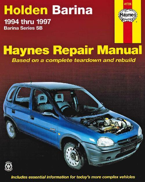 Holden Barina SB Series 1994 - 1997 Haynes Owners Service & Repair Manual - Front Cover
